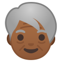Older adult medium dark skin tone icon