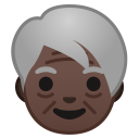 Older adult dark skin tone icon