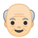Old man light skin tone icon