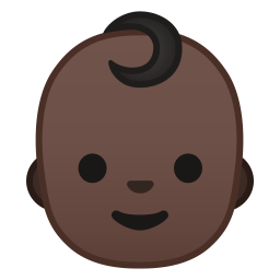 Baby dark skin tone icon