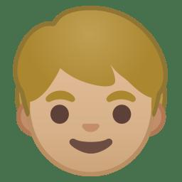 Child medium light skin tone icon