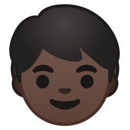Child dark skin tone icon