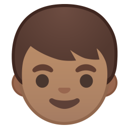 Boy medium skin tone icon
