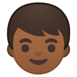 Boy medium dark skin tone icon