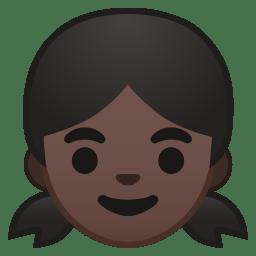 Girl dark skin tone icon