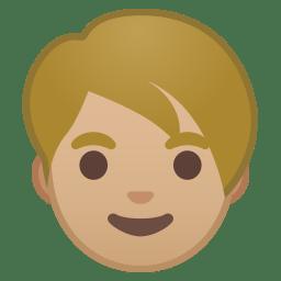 Adult medium light skin tone icon