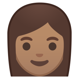 Woman medium skin tone icon