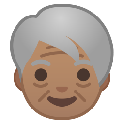 Older adult medium skin tone icon