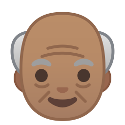 Old man medium skin tone icon