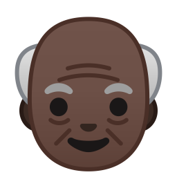 Old man dark skin tone icon