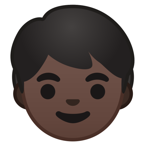 Child dark skin tone icon