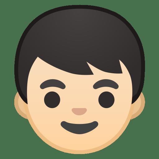 Boy light skin tone icon