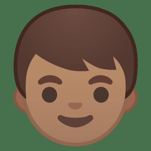 Boy medium skin tone icon
