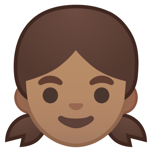 Girl medium skin tone icon