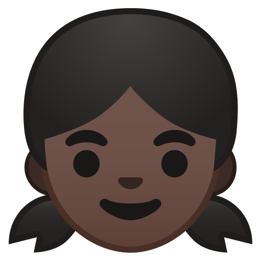 Girl dark skin tone icon