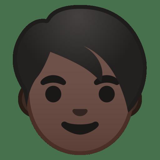 Adult dark skin tone icon