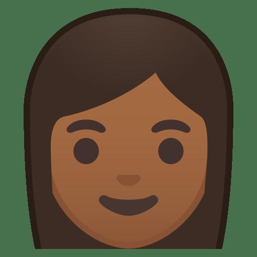 Woman medium dark skin tone icon