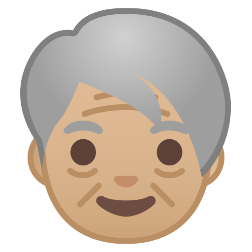 Older adult medium light skin tone icon