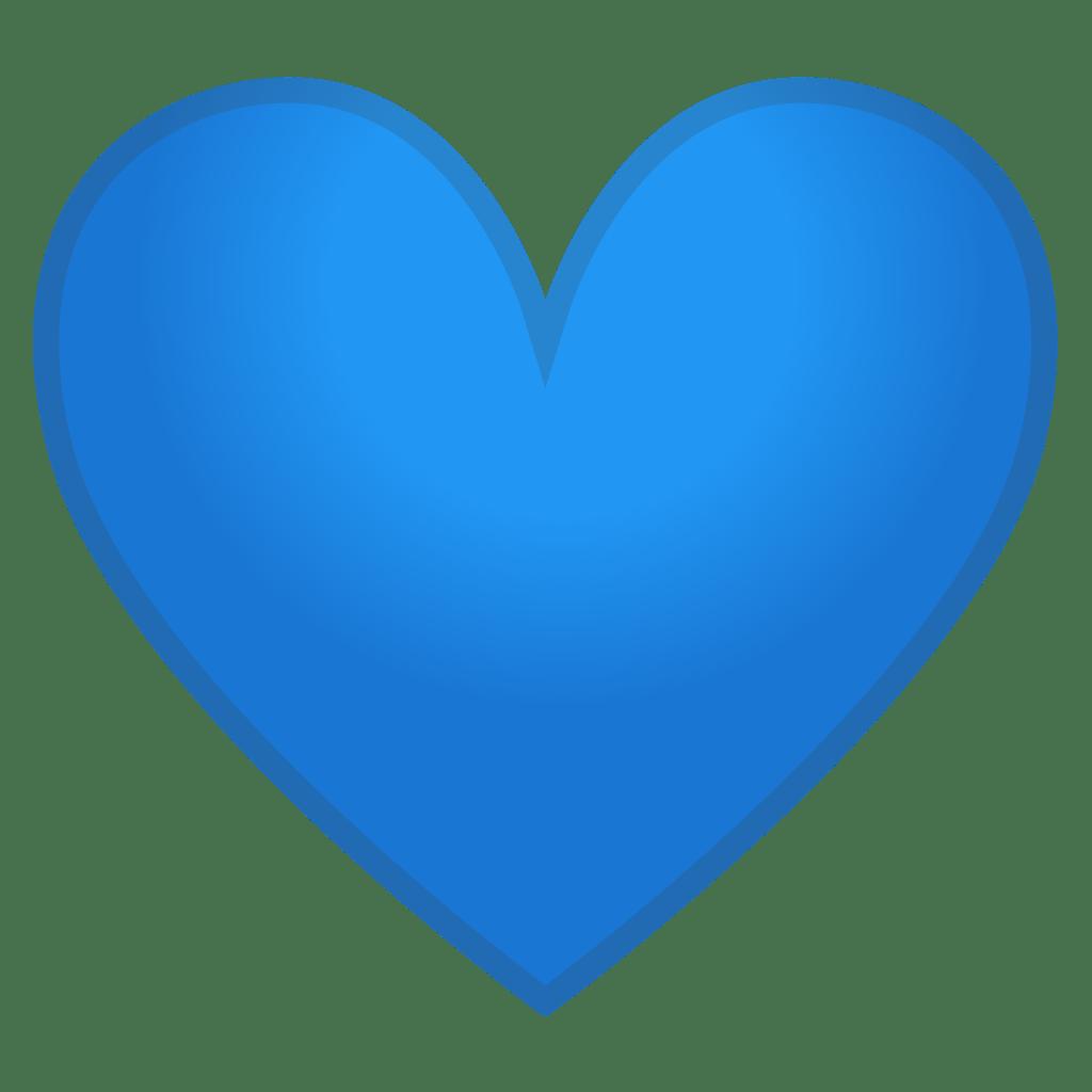 Blue heart Icon   Noto Emoji People Family & Love Iconset ...