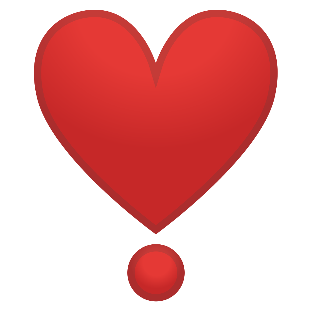 heavy heart exclamation icon noto emoji people family