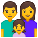 Family man woman girl icon
