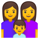 Family woman woman boy icon