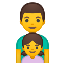 Family man girl icon