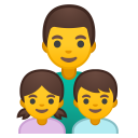 Family man girl boy icon