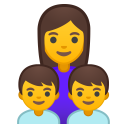Family woman boy boy icon
