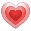 Growing heart icon