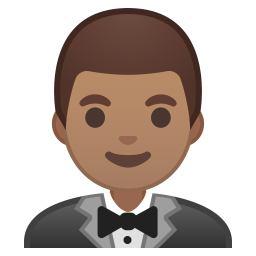 Man in tuxedo medium skin tone icon