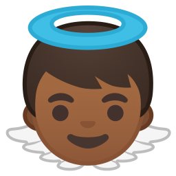 Baby angel medium dark skin tone icon