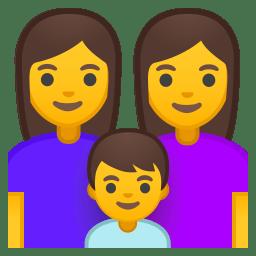 Family woman woman boy icon