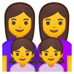 Family woman woman girl girl icon