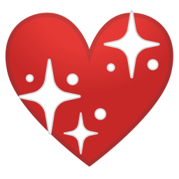 Sparkling heart icon