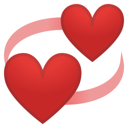 Revolving hearts icon
