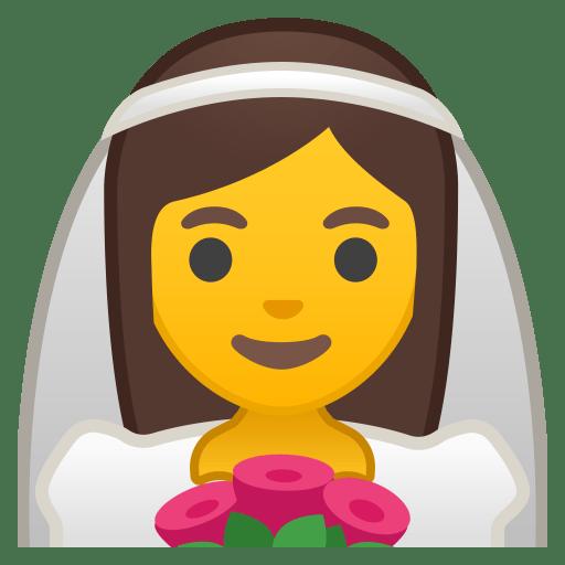 Bride with veil icon