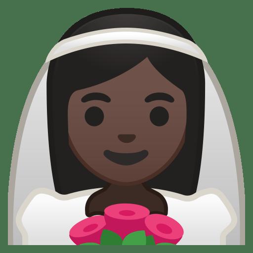 10684-bride-with-veil-dark-skin-tone icon