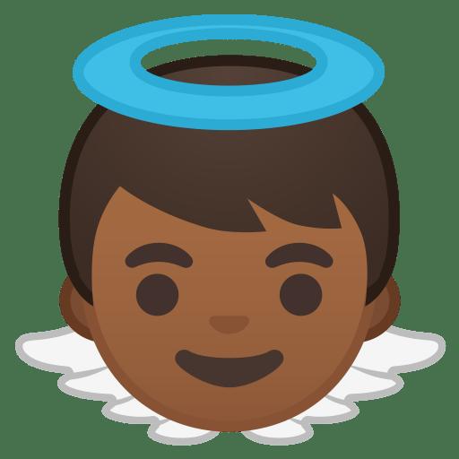 Baby angel medium dark skin tone icon