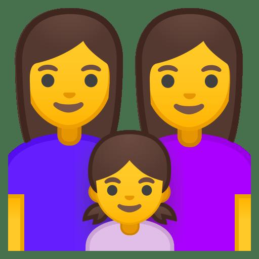 Family woman woman girl icon