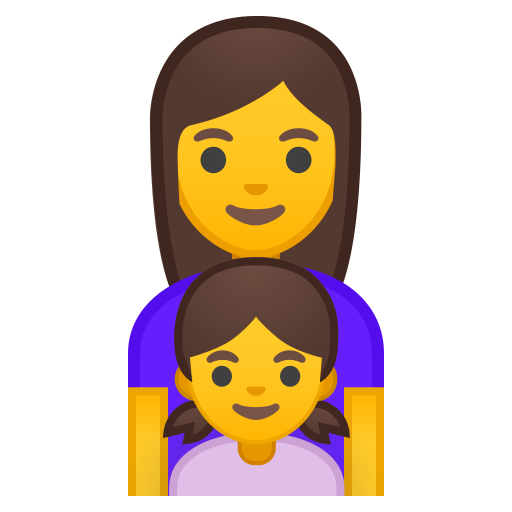 Family woman girl icon