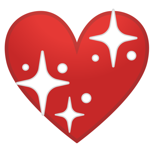 Sparkling heart icon