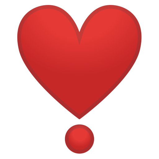 Heavy heart exclamation icon