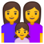 Family woman woman girl icon