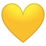 12146-yellow-heart icon
