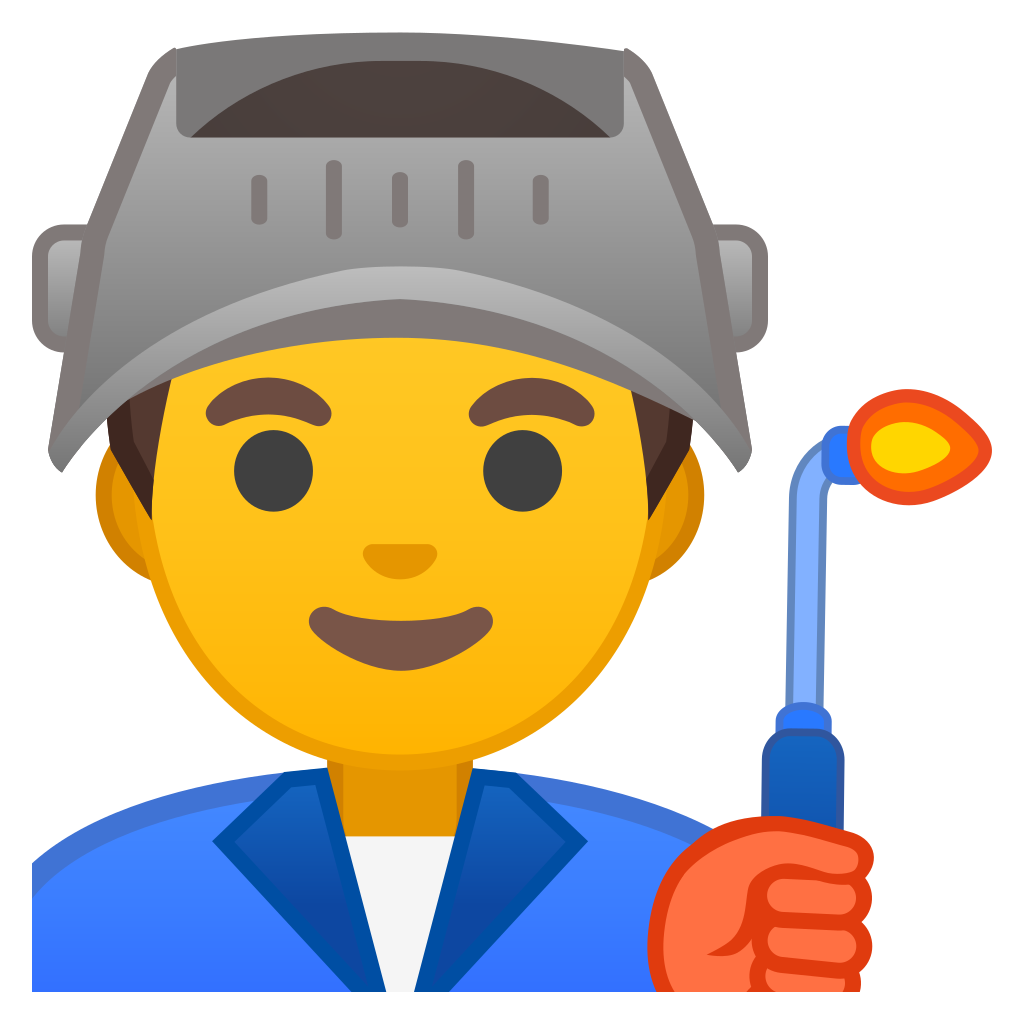 Man factory worker Icon | Noto Emoji People Profession ...