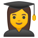 Woman student icon