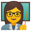 Woman teacher icon