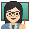 Woman teacher light skin tone icon