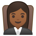Woman judge medium dark skin tone icon